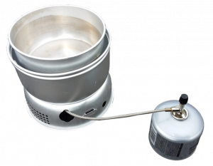 Trangia stove and gas canister